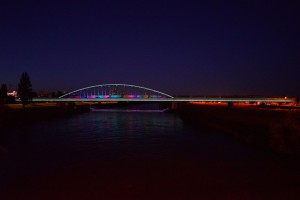 Niezwykła metamorfoza mostu w Zagrzebiu