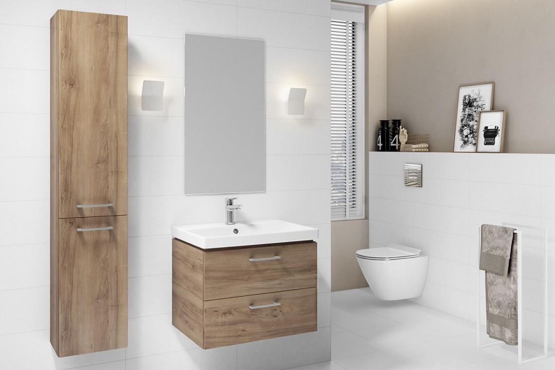 Drewno I Biel W łazience Połączenie Doskonałe Design