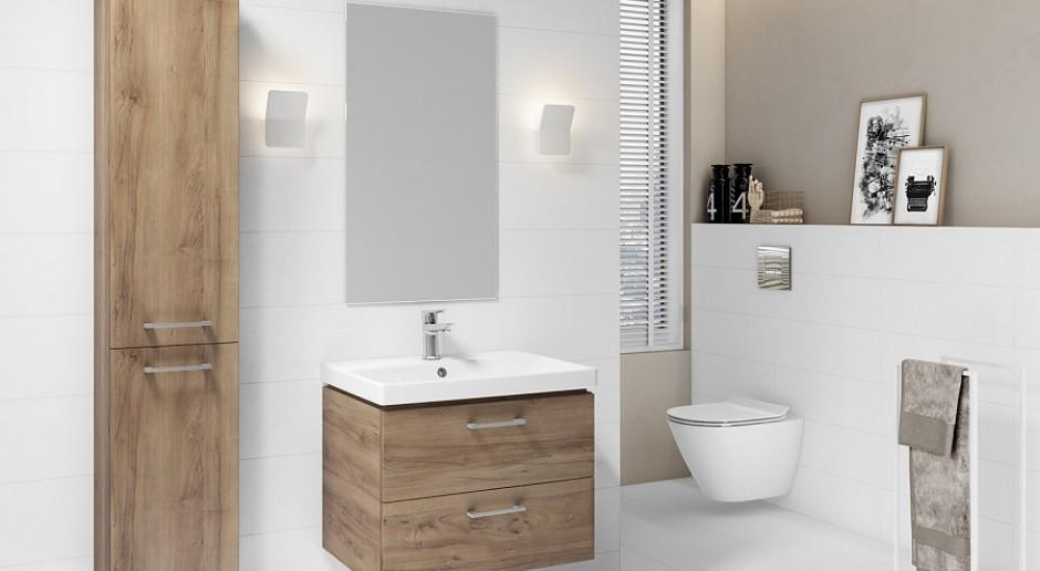 Drewno i biel w łazience - połączenie doskonałe