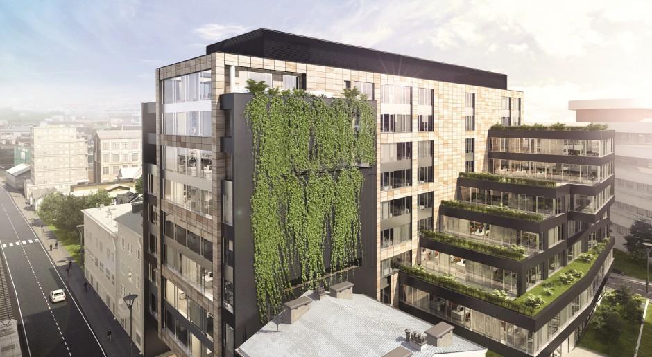 Trwa budowa Mogilska Office spod kreski OP Architekten