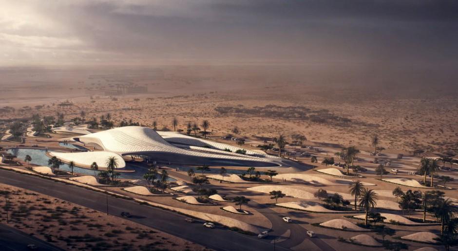 Supernowoczesny i zielony biurowiec na… pustyni. To projekt spod kreski Zaha Hadid Architects