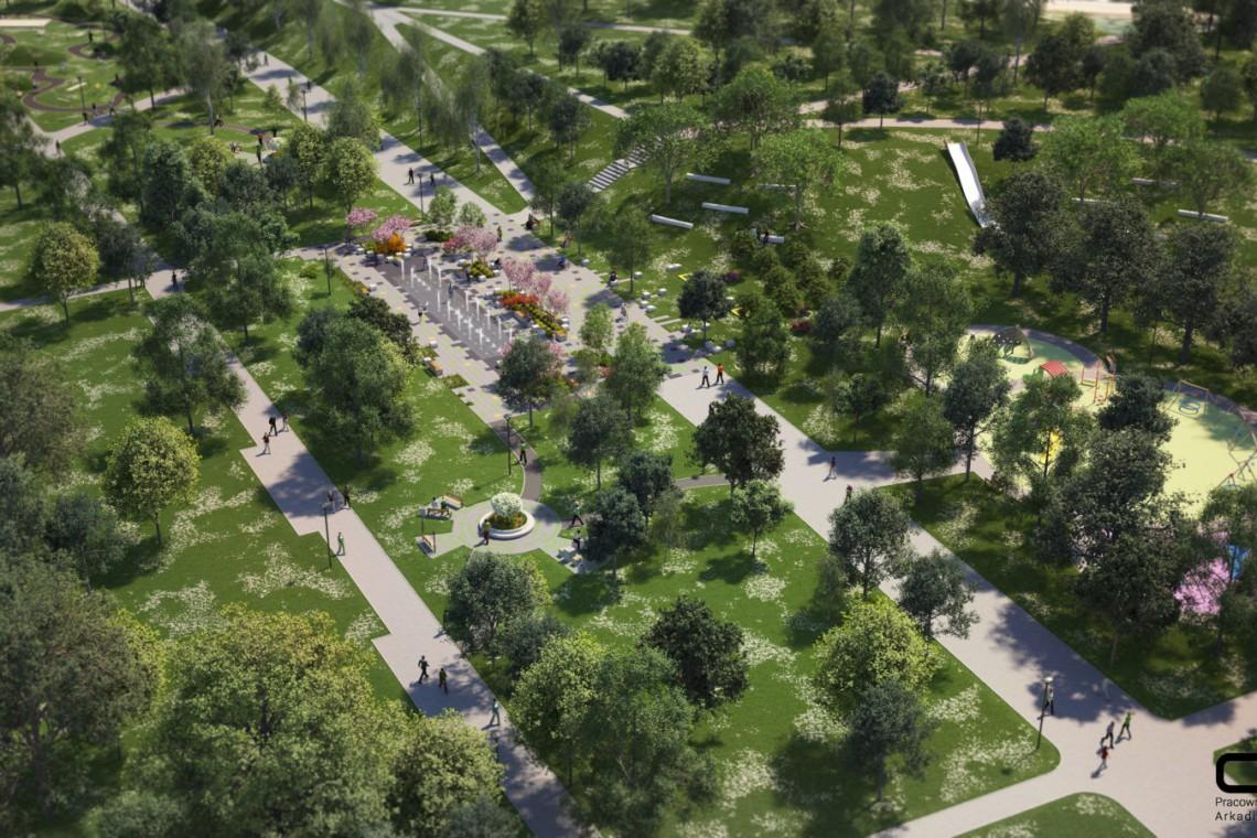 Tak będzie wyglądać Park Hallera w Dąbrowie Górniczej
