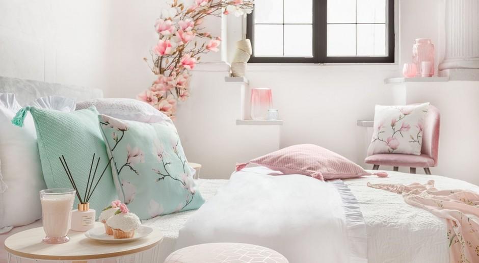 Pudrowo - różowe wnętrze