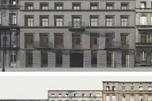 Kamienice przy Włókienniczej ze zdobionymi fasadami. W planach cytaty z historii architektury