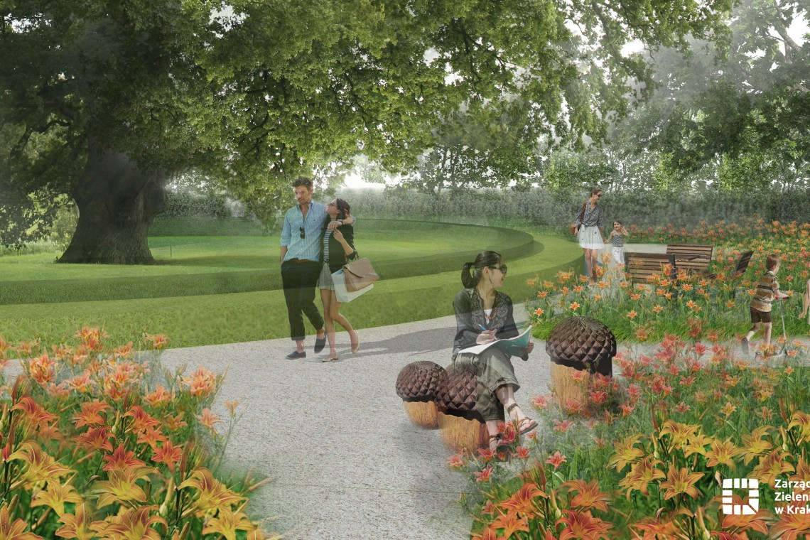Dąb szypułkowy motywem przewodnim nowego Ogrodu Krakowian