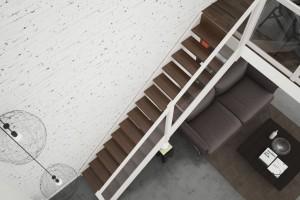 Schody z antresolą - wykorzystany potencjał wysokich pomieszczeń
