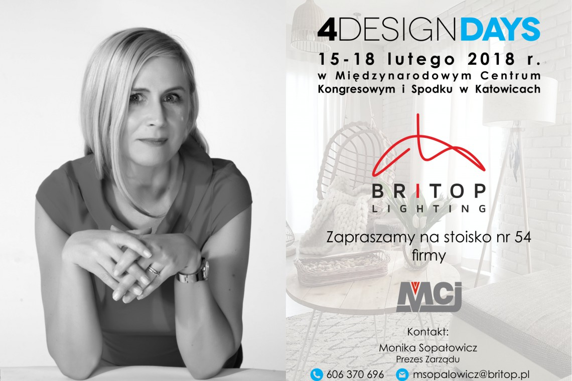 Britop Lighting zaprasza na 4 Design Days