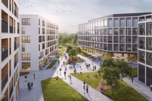 Mieszkania, biura, kawiarnie i zieleń. Echo Investment z JEMS tworzą Moje Miejsce w Warszawie