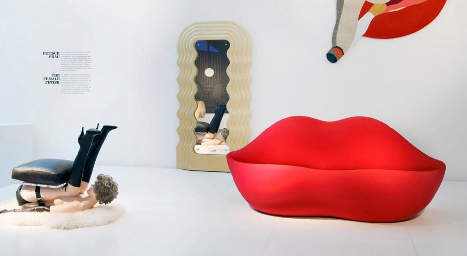 Ikona designu - sofa w kształcie ust