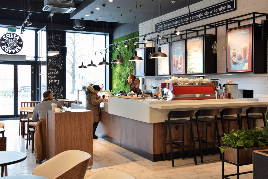 Nowy obiekt, nowy koncept - Costa Coffee w kompleksie Rondo Wiatraczna