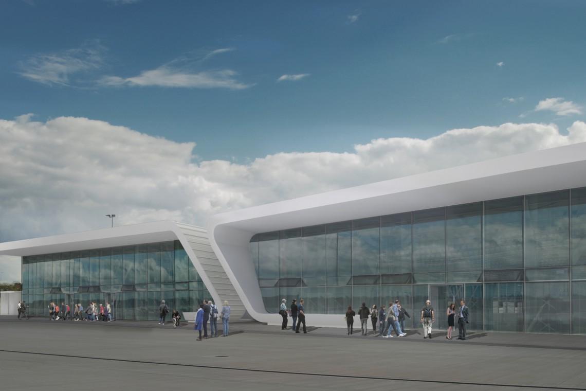 Duże przeszklenia i lekka prosta bryła. Coraz bliżej rozbudowy lotniska w Świdniku