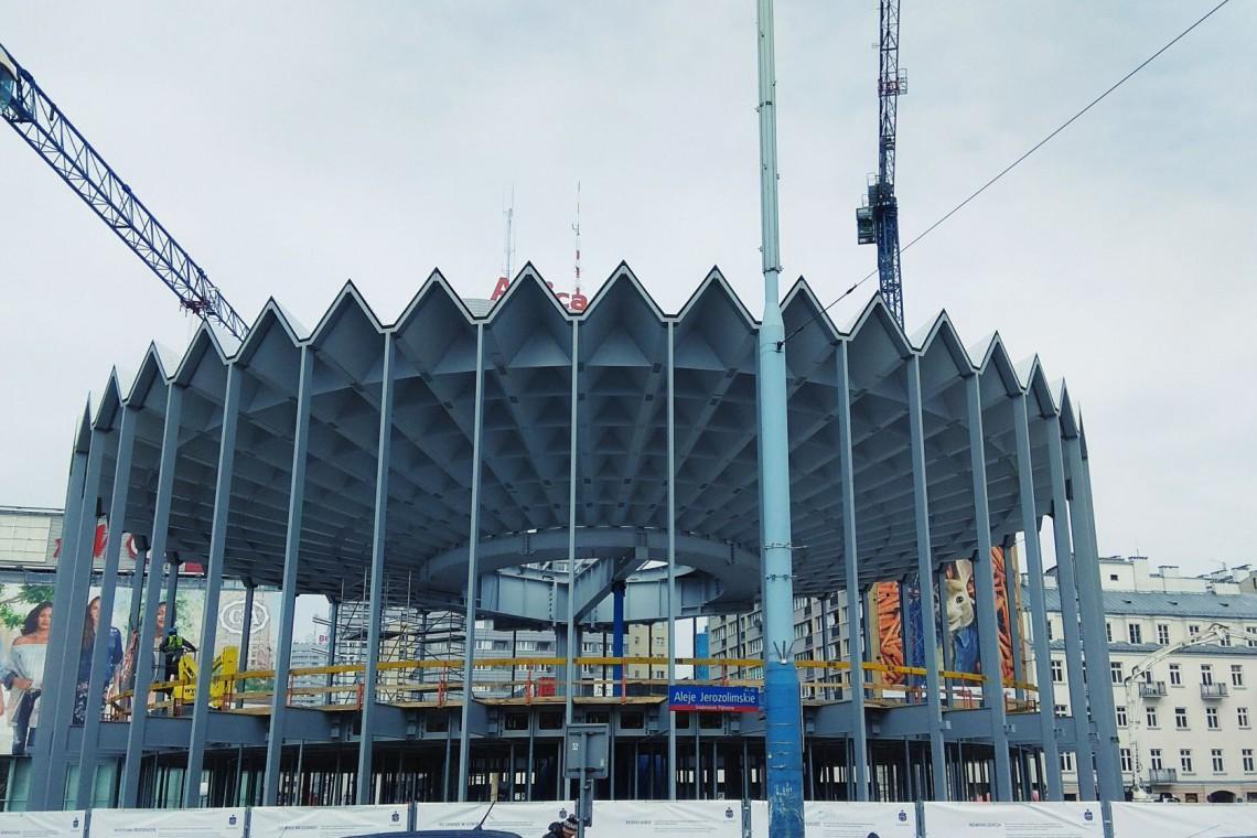 Najnowsze zdjęcia z budowy warszawskiej Rotundy