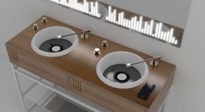 Konsola umywalkowa jak... konsola muzyczna