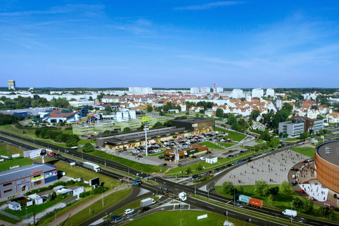 Park handlowy spod kreski Mofo Architekci w budowie