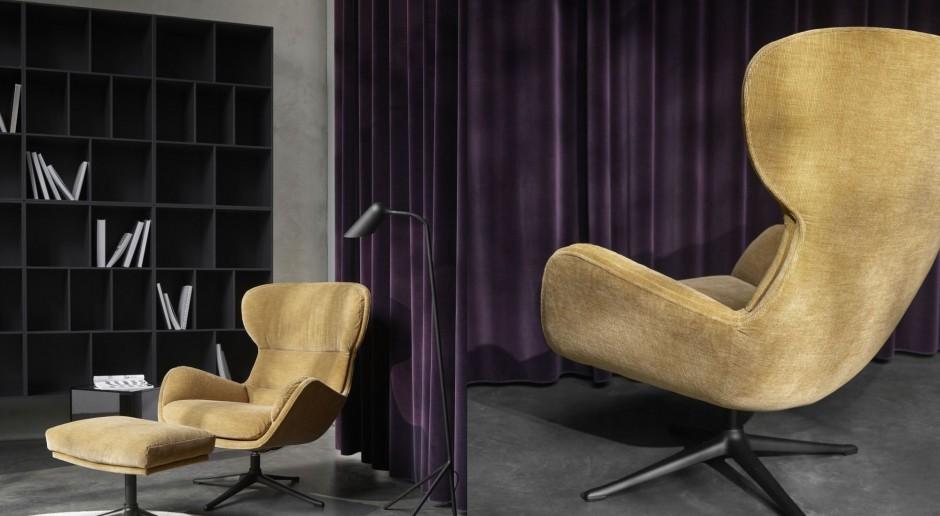 Ten fotel kształtem przypomina klasyczne sportowe aut