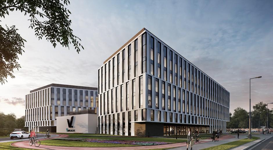 Wiecha zawisła na krakowskim projekcie V.Offices. To projekt Iliard