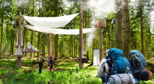 Niezwykły hotel w lesie