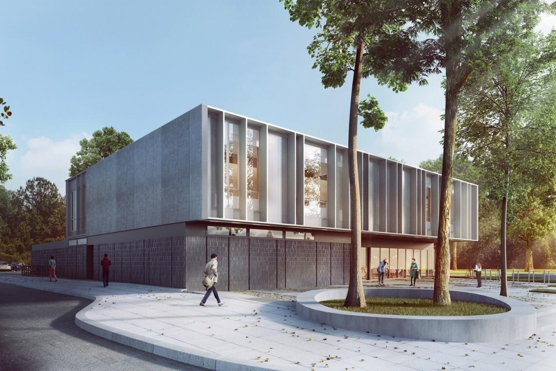 Nowa bryła na architektonicznej mapie Szczecina. To Centrum Aktywności Lokalnej szkicu GRID architekci