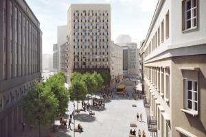 Zobacz projekt Placu Pięciu Rogów w Warszawie - już po zmianach