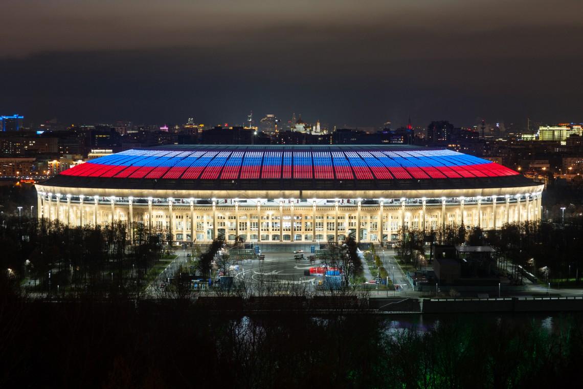 Rozświetlą 10 z 12 stadionów na mundialu w Rosji