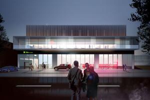 Przeszklona restauracja, taras na dachu i nowoczesne wnętrze. Rusza budowa hotelu ibis Styles w Tomaszowie Lubelskim