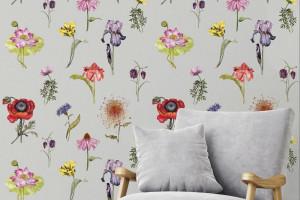 Botaniczne motywy na tapetach i tkaninach obiciowych