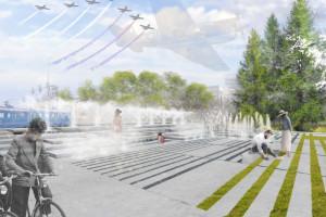 Niezwykła fontanna w krakowskim Parku Lotników