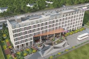 W Poznaniu na lotnisku Ławica rozpoczyna się budowa hotelu Moxy. To projekt Emkaa Architekci