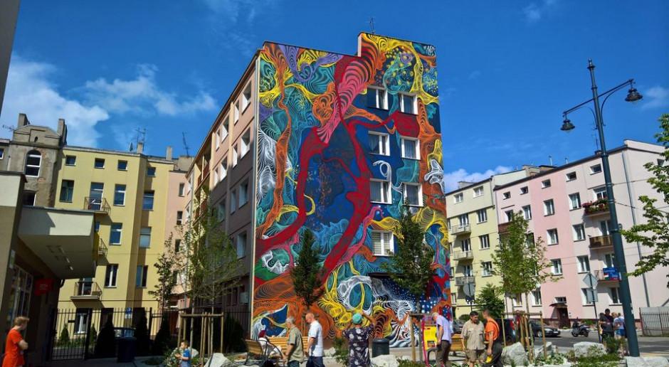 W Łodzi powstał pierwszy w Polsce trójwymiarowy mural