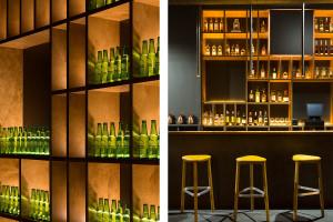 Ekskluzywny pub pełen gry świateł szkicu Nihil Estudio