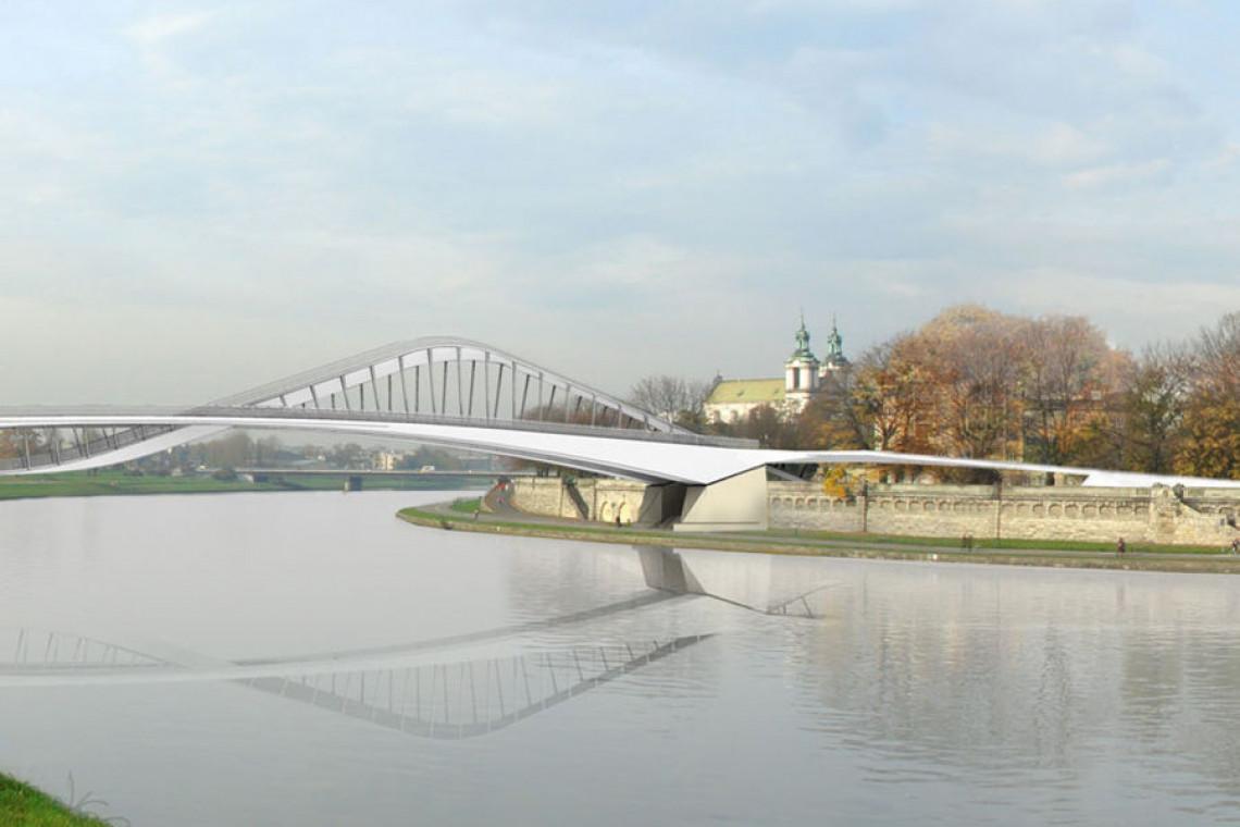 Pozwolenie na budowę krakowskiej kładki nad Wisłą na ostatniej prostej