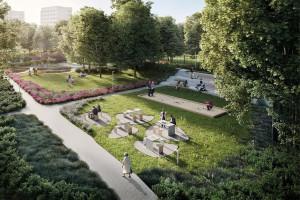 Park Centralny w Gdyni. Właśnie ruszyła budowa