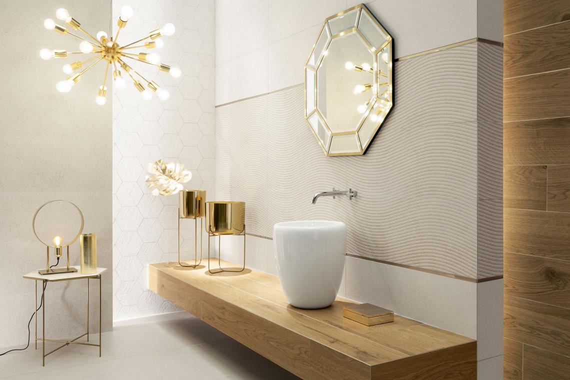 łazienka Cała W Złocie Design