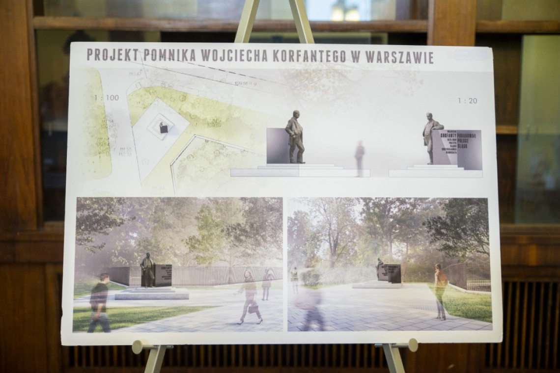 Wybrano projekt pomnika Wojciecha Korfantego. Stanie w ważnym miejscu Warszawy