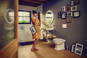 Vintage w łazience