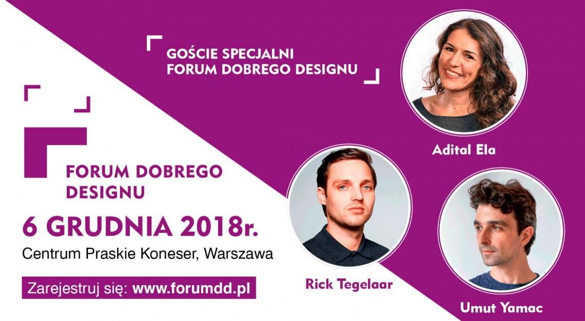 Forum Dobrego Designu 2018 - oto Goście Specjalni wydarzenia