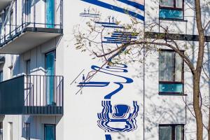 Murale Ewy Doroszenko w przestrzeni miejskiej na warszawskiej Białołęce