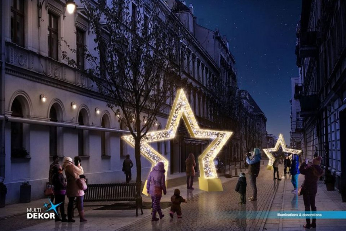 Łódź w świątecznym blasku. Zobacz jakie dekoracje rozświetlą w tym roku Piotrkowską