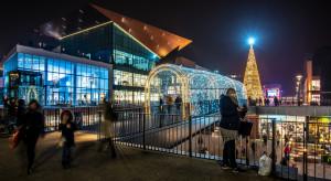 Forum Gdańsk przystrojone na święta
