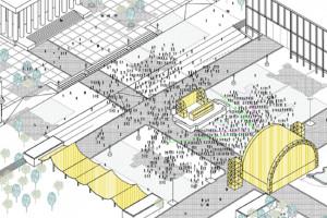 Plac Centralny bez samochodów, za to z oczkiem wodnym i zielenią. Znamy koncepcję zmian otoczenia PKiN-u