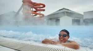 Łódzki aquapark zaskoczył. Na zimę otworzył basen zewnętrzny z podgrzewaną wodą