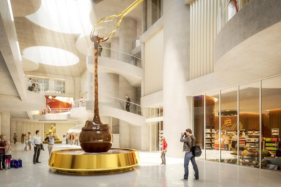 Najwyższa fontanna czekolady na świecie. Domu Czekolady Lindt zaskoczy!