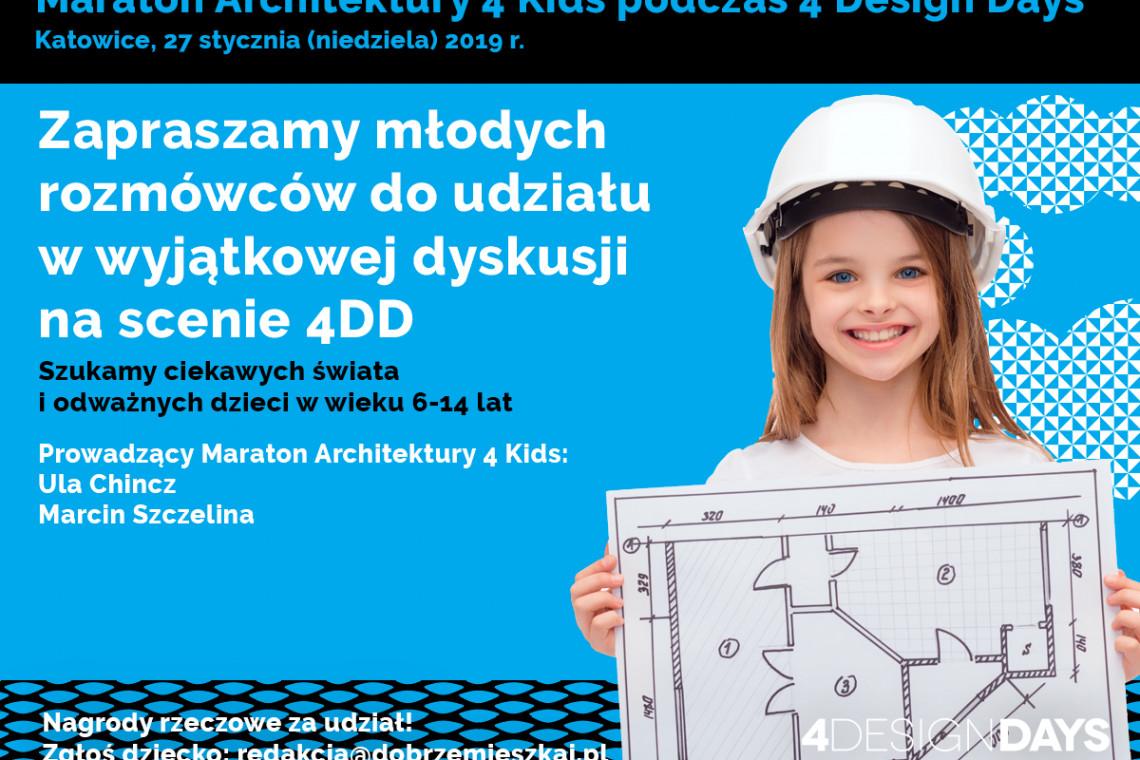 Tego jeszcze nie było! Architektura i design oczami dzieci na 4 Design Days
