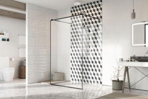 Hipnotyzujące kabiny prysznicowe