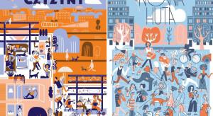 Znana ilustratorka stworzyła plakaty namawiające do zakochania się w Nowej Hucie i Czyżynach