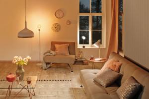 Nowoczesne lampy z betonu, marmuru i miedzi
