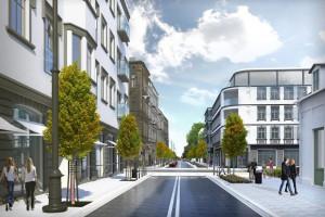 Drzewa, ławki i oświetlenie, miejsca parkingowe, równe chodniki - Łódź zmienia kolejną ulicę