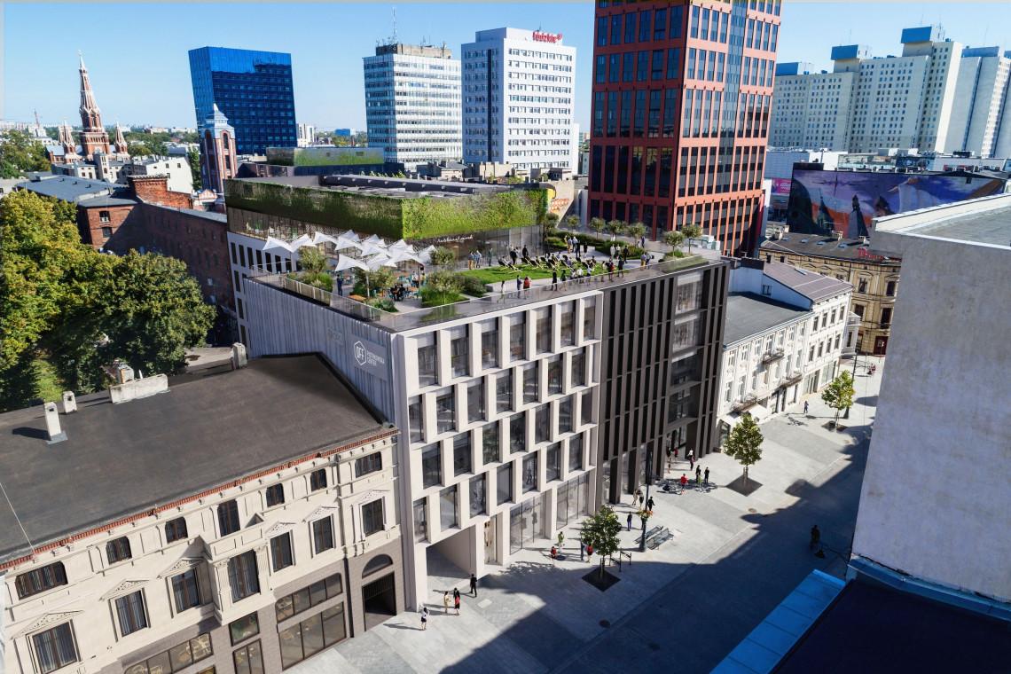 Supernowoczesne biurowce z tarasem na dachu i rooftopem. Oto nowe inwestycje w OFF Piotrkowska