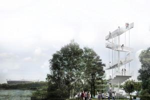 Nad Wisłą powstanie dominanta w formie wieży widokowej? Śmiały pomysł pracowni Workplace