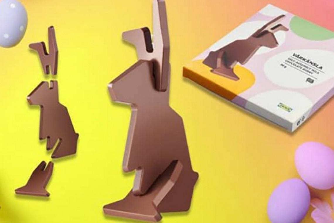 IKEA sprzedaje czekoladowego zajączka, którego trzeba samodzielnie złożyć